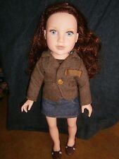18 In Doll Journey Girls Kelsey Auburn Red Hair Icy Blue Eyes Original Clothes