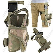 Universal Fit Drop Leg Right Handed Thigh Pistol Holster Multicam
