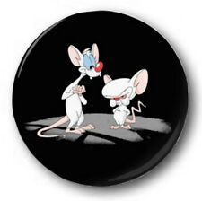 "Pinky & The Brain 25mm 1"" Button Badge - Kids Retro TV 90's Funny Animaniacs"