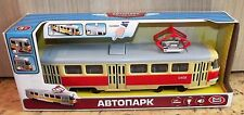Moscow tram Tatra T3. Plastic toy. 1/50 scale.