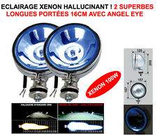 PUISSANCE XENON! 2 TOP PHARES 16CM CHROME ANGEL EYE! LAND PAJERO PATROL JEEP HDJ