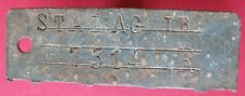 WWII Nazi POW Camp Stalag I B id tag of Russian soldier P.O.W.- more on ebay.pl