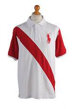 """Ralph Lauren Vintage Casual Men Polo Shirt Multi Chest Size 45"""" - PT0401"""