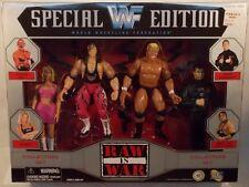 """WWF WWE Raw Is War Sunny, Bret """"The Hitman""""Hart,Vince McMahon & Sid Jakks MISB"""
