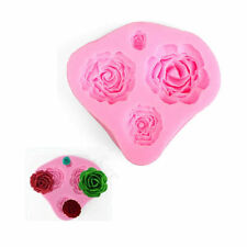 3D Rose Flower Silicone Cookie Fondant Cake Mold Cupcake Biscuit Chocolate Mould
