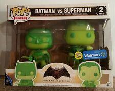 NEW Funko Pop! Heroes Batman Vs. Superman Glow In The Dark 2pk Walmart Exclusive