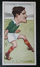Lansdown & Ireland International Rugby Player  Crawford   Vintage 1920's Card