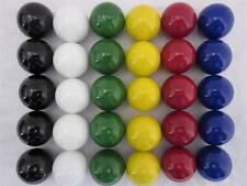 """30 LARGE 1"""" Replacement Marbles Wahoo Aggravation Board game Solid Color GLASS"""
