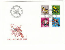 Schweiz  FDC Ersttagsbrief 1969 Vögel  Mi.Nr.914-17