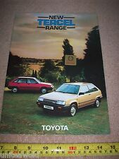 Toyota Tercel Brochure 1983 Catalogue excellent condition Collectable