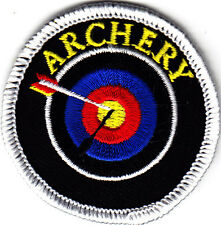 """""""ARCHERY"""" w/TARGET & ARROW - SPORTS - GAMES - Iron On Embroidered Patch"""