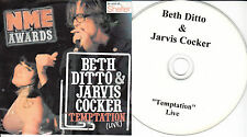 BETH DITTO & JARVIS COCKER Temptation Live 2008 UK 1-trk promo test CD NME