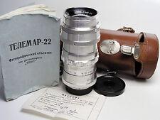 TELEMAR-22 white KMZ Russian m39 m42 lens. EX!