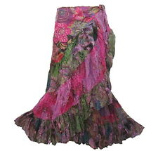 BOHO/HIPPY/GYPSY COTTON RUFFLE WRAP LONG SKIRT  M0928
