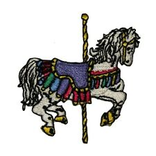 ID 1004 Carousel Horse Iron On Applique Patch