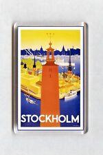 Vintage Travel Poster Fridge Magnet - Stockholm