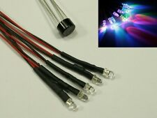 S621 5 Pieces LED 3mm RGB with cable for 12-19V ready connections Rainbow quick