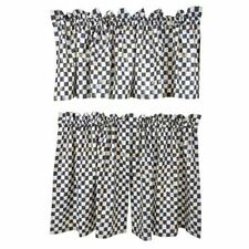 MacKenzie Childs Courtly Check Cafe Curtains
