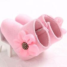 Baby Girls Floral Winter Snow Boots Soft Crib Sole Boots Toddler Newborn Shoes