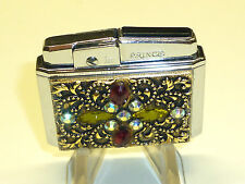 "PRINCE ""DIA"" AUTOMATIC POCKET LIGHTER WITH BLING DECORATION - 1950 - JAPAN"