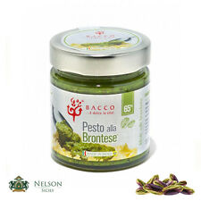 Pesto alla Brontese Bacco 190 gr - Pesto di Pistacchio 65%, Made in Sicily