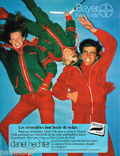 PUBLICITE ADVERTISING 055  1977  DANIEL HECHTER  vetement ski en DRALON BAYER