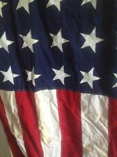 VINTAGE 48 Star 5' X 9.5' 100% Cotton US American Flag.Marked PACE San Juan P.R.