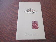 ecrire le monde en francais salon des litteratures d'expression francaise balma
