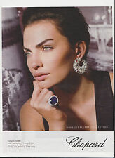 CHOPARD HIGH JEWELLERY  Pub de Magazine Magazine advertisement.2012. page papier