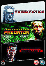 Terminator/ Predator/ Commando (DVD, 2009, 3-Disc Set)