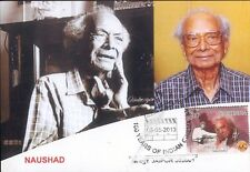INDIA 2013 FDC MAXIM CARD / PICTURE POST CARD OF NAUSHAD CINEMA THEME