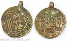 Rare vintage temple token Old collectible ram token amulet pendant. G29-67