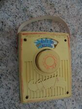"Vintage Fisher Price Pocket Radio ""Pop Goes the Weasel"" 775 Works Music Box 1972"