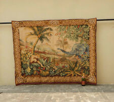 Vintage Large French Beautiful Scene Tapestry 180x140cm (A809)