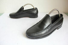 Allen Edmonds Luxus Slipper Schuhe Voll Echtleder Schwarz 40-40,5 made in USA