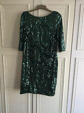 Coast Green Sequence Party Dress,size 16, Just Stunning!