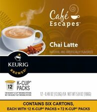 Keurig Cafe Escapes Chai Latte K-Cup Pods French Roast Beans Barista 72 Ct new