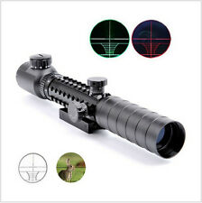 Power 3-9X32EG Red/Green Crosshair Rangefinder Rifle Scope 20mm Mount Reticle
