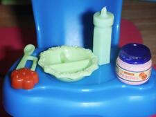 Barbie Little Krissy Feeding Dish Green Rement Peaches Baby Food Dollhouse Lot