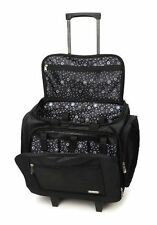 NEW Darice Large Carry/Rolling Scrap Book Tote Bag Organizer for Supplies Black