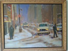 Richard Montpetit Dans la tempête painting oil on canvas Original framed signed