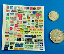 HO 1:87 Railroad Train Stickers, BUILDING SIGNS,OPEN CLOSED EXIT OFFICE STICKER