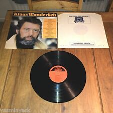 KLAUS WUNDERLICH Self Titled UK LP - CONTOUR - CN 2060 - 1982
