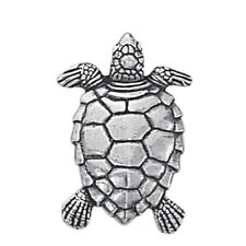 "Danforth Pewter 1"" Tall Shank Style Turtle Design Buttons - Set of 2"