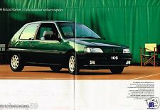 Publicité advertising 1993 (2 pages) Peugeot 106 Roland Garros