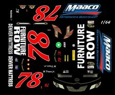 #78 Martin Truex jr. MAACO Toyota 1/64th HO Slot Car Decals