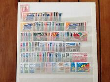 France coucil of  europe Unesco complete set 1958 to 1990 MNH
