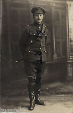 WW1 Driver Royal Artillery wears rubberised trench boots