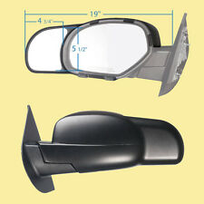 2 CLIP-ON TOWING MIRRORS tow extension extend side rear view hauling extender c2