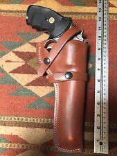 """Ruger GP100 357 Magnum 6"""" Barrel Leather Field Holster"""